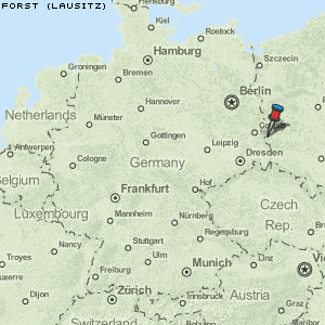 lausitz karte deutschland Karte von Forst (Lausitz) :: Deutschland Breiten  und Längengrad