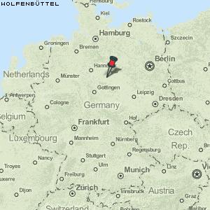 Karte Von Wolfenbuttel Deutschland Breiten Und Langengrad