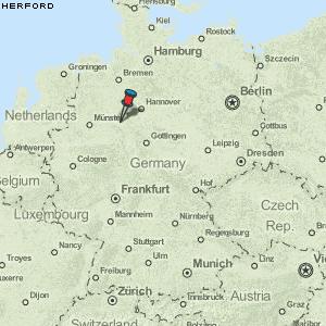 herford karte deutschland Karte von Herford :: Deutschland Breiten  und Längengrad