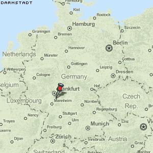 darmstadt deutschland karte Karte von Darmstadt :: Deutschland Breiten  und Längengrad
