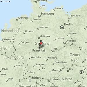 fulda deutschland karte Karte von Fulda :: Deutschland Breiten  und Längengrad