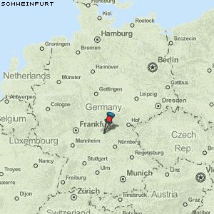 schweinfurt karte deutschland Karte von Schweinfurt :: Deutschland Breiten  und Längengrad