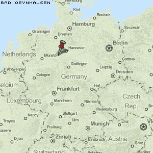 bäder deutschland karte Karte von Bad Oeynhausen :: Deutschland Breiten  und Längengrad